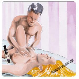 muž masíruje ženu