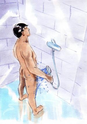 muž ve sprše