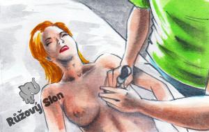 muž pumpuje ženě bradavky