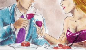 pár s vínem