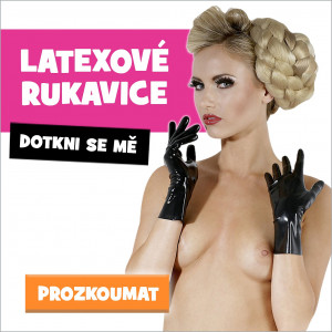 latexové rukavice