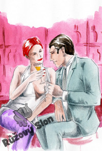 Žena se šperky na bradavkách kokektuje v baru