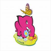 slon jarní s motýlem