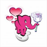 slon valentýnský