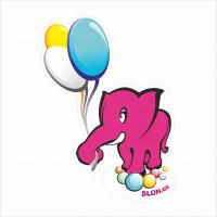 slon balónkový
