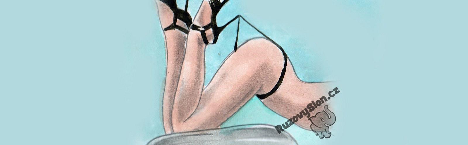 žena špulí zadeček v kalhotkách