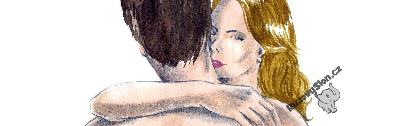 žena objímá muže