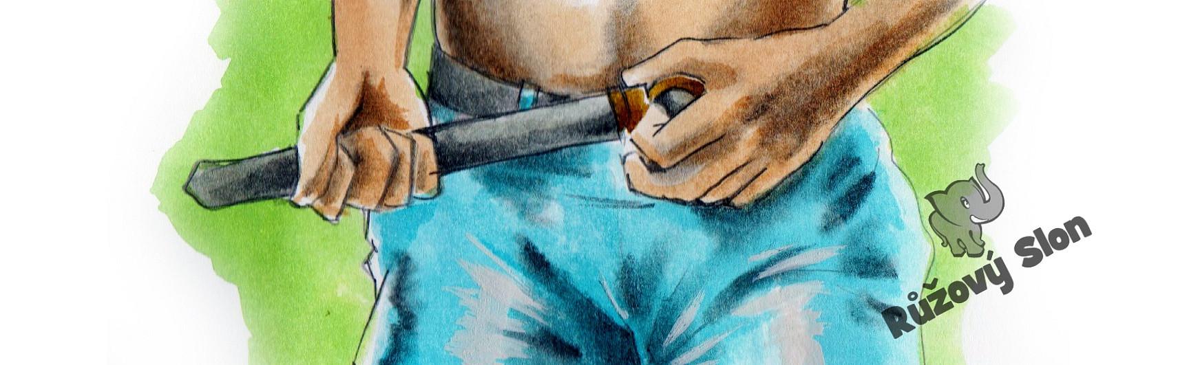 muž v kalhotách