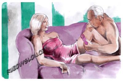 starší pár s vibrátorem
