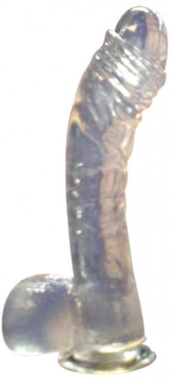 Dildo gelové přísavka čiré 17*3 cm