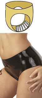 Latexové kalhotky s výstupky