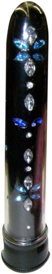 Vibrátor Diamond Dancer černý 18 cm