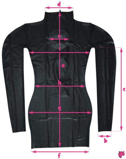 Latexové šaty - rozměry
