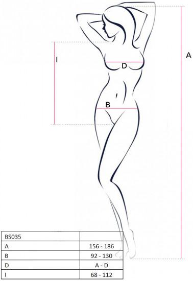 Body elastické, tabulka velikostí