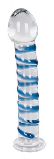 Skleněné dildo Arts Clair Bleu