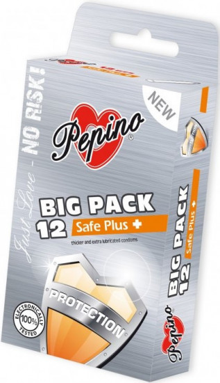 Pepino Safe Plus - zesílené kondomy 12 ks