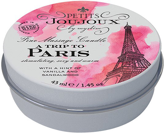 Masážní svíčka Paris Romance