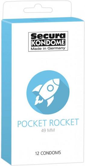 Secura Pocket Rocket 49 mm – malé kondomy (12 ks)