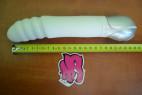 Zest bílý - silikonový vibrátor, střední velikost