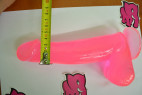 Dildo s přísavkou růžové 21 cm