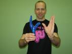 Adam a vibrátor Blue Hand