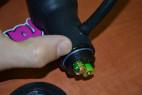 Anální kolík nafukovací s vibrací a přísavkou