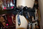 Košilka Promise černá + tanga a podvazek