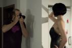Simona a Kožený korzet na zip