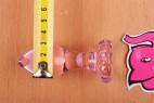 Anální kolík Flower Glass Plug s metrem