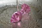 Anální kolík Flower Glass Plug pod vodou