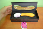 Vibrátor silikonový Oranžový banán 20cm
