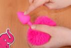 Anální kolík Pinky Bunny – s prstem
