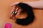 Anální kolík Cat Tail- s rukou
