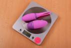 Bezdrátové vibrační vajíčko Hell-X – váha vajíčka i s ovladačem (134 g)