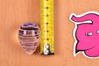 Vajíčka Pure Glass – měření vajíčka na výšku, výška je 4,2 cm