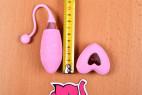 Vibrační vajíčko Pink Love, celková délka