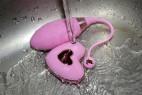 Vibrační vajíčko Pink Love, pod tekoucí vodou