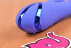 Rotační vibrátor Dream Bunny, detailní záběr pozlacení