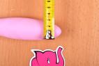 Silikonový vibrátor Pink Lover, průměr špičky