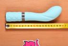 Silikonový vibrátor Sassy Aquamarine, celková délka