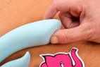 Vibrátor s výběžkem na klitoris Turquoise Diamond – šířka špičky