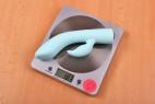 Vibrátor s výběžkem na klitoris Turquoise Diamond – váha