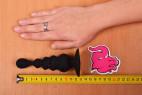 Anální kolík Black Cascade s přísavkou, celková délka i s rukou