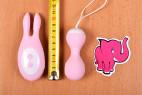 Vibrační vajíčko BOOM Rabbit&Balls, celková délka