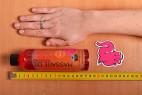 Shiatsu hřejivý masážní olej – měříme délku lahvičky s olejem