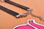 Kožený obojek s řetízkem Shameless – focení v prodejně Růžový Slon Havířov