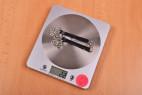 Kožený obojek s řetízkem Shameless – vážení, stolní váha ukazuje 22 g