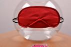 Masky na oči Twins – červená maska na nádobě s vodou