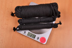 Bondážní lano Soft Touch – vážíme lana, stolní váha ukazuje 273 g