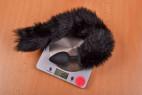 Sada PussyCat – vážíme anální kolík, stolní váha ukazuje 108 g